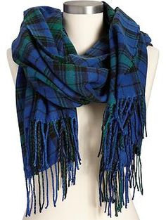 Womens Plaid Flannel Scarves. This color would match both my winter jackets.