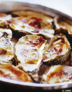 Huitres chaudes gratinees au camembert d Isigny