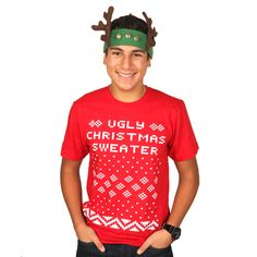 Ugly Christmas Sweater Tee!!!!!!!!!!!!!!!!!!!!!!!!!