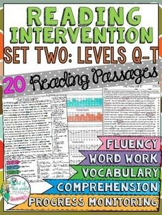 Set two for Levels Q-T of the Reading Intervention Program for Big Kids. ($)