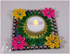 Trupti's Craft: Paper Quilling Candle Holder