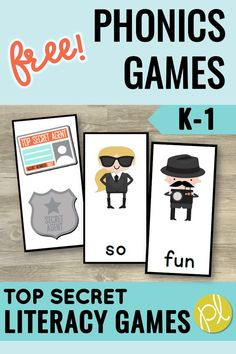 Phonics Game - Free! Grab this free five-games-in-one Blast game for your literacy small groups and centers! Mix and match sight words, phonics decoding, and even alphabet cards for easy differentiation! From Positively Learning Blog #phonicsgames #phonicscenters #sightwords