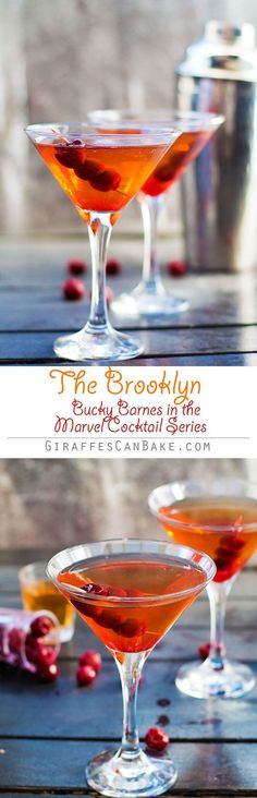 The Bucky Barnes Brooklyn Cocktail is the next instalment of my Marvel Cocktails Series. Bucky's cocktail is the classic Brooklyn, an old timer that's made a big comeback. The Brooklyn Cocktail is a delicious blend of rye whiskey, extra dry vermouth, mara