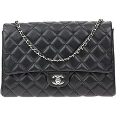Pre-owned Chanel Black Caviar Leather Clutch with Chain Bag ($3,600) ❤ liked on Polyvore featuring bags, handbags, clutches, chanel clutches, evening handbags, chain handbags, leather pouch and special occasion clutches