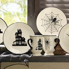 Halloween Mugs and Plates from Through the Country Door | NW711388
