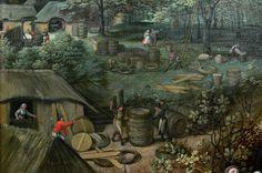 1585 - Herbstlandschaft (September), Detail Lucas van Valckenborch (1535 or later–1597)