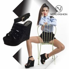 <3 Black suede #nitro platforms-> Available in stores & online