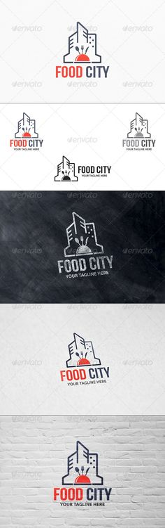 Food City - Logo Template ...  Restaurant logo, bakery, bistro, cafe, city catering, city restaurant, creative, delicious, dinner, food city, food logo, food shop, food town, fork, hot plate, hotel, kitchen, metro, modern, spoon, tasty, urban cafe