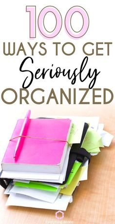 100 Ways To Get Seriously Organized – Everything Abode Organize Your Life. Heck, Declutter and All of It. Here Are Home Organizing, Life Organizing, Decluttering Ideas and 100 Other Life Organizing Tips to Get Yourself Seriously Organized. Organisation Hacks, Clutter Organization, Planner Organization, Office Organization, Organisation Ideas Planners, Back To School Diy Organization, Project Life Organization, Household Organization, Declutter Your Home