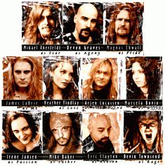 Characters from The human equation James Labrie, Cello, Equation, Opera, Folk, Characters, Play, Metal, Projects
