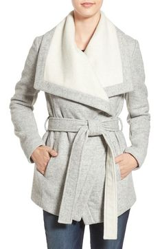 BCBGeneration Belted Two-Tone Wrap Jacket available at #Nordstrom