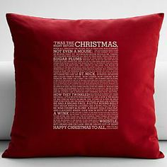 t'was the night before christmas throw pillow cover from RedEnvelope.com