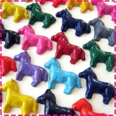 horse shaped crayon party favors