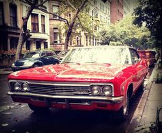 Red Old School Chevy in NYC (69th St)   #instagramnyc