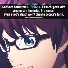 gods are born from wishes. as such, gods with a name are immortal, in a sense. even a god's death won't change people's faith