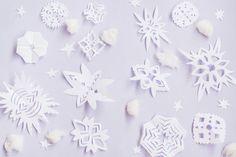 #Christmas snowflakes #mockup is greate for blog, #website, postcard, banner, social media