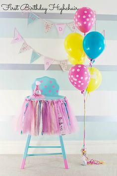 First Birthday Highchair painted