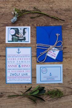Hochzeit Sylt Papeterie Meer blau