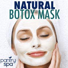 Natural Botox: Dr Oz Wrinkle Cure Treatment & Botox Mask-Half of a ripe banana, 1/4 cup of yogurt, 1 tsp of honey - 15 minutes