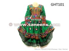 Handmade Afghan Dress Traditional Asian Bridal Clothes Kuchi Ladies Tail Gown - Saneens Online Store