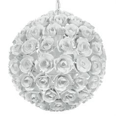 @rosenberryrooms is offering $20 OFF your purchase! Share the news and save!  Cypress White Wrought Iron Rose Chandelier #rosenberryrooms
