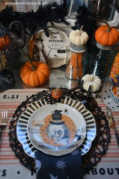 Witches Tea Party: It's All About the Treats! | homeiswheretheboatis.net #Halloween #PottingShed
