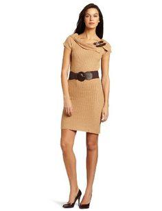Amazon.com: Tiana B Women's Full Fashion Sweater Dress With Hardwear: Clothing $21.50
