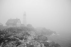 The trip to the Portland Head Lighthouse in Maine brought some great views in the fog on this fabulous morning. (Photo credit: Jenni Hypes)