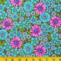 Premium Cotton Fabric- Large Packed Floral Purple