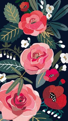 Image discovered by ChiangWaiFun. Find images and videos on We Heart It - the app to get lost in what you love. Flowery Wallpaper, Go Wallpaper, Flower Phone Wallpaper, Cute Patterns Wallpaper, Wallpaper Iphone Cute, Aesthetic Iphone Wallpaper, Background Patterns, Wallpaper Backgrounds, Aesthetic Wallpapers