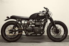 Very sexy #CafeRacer a 2007 #Triumph Bonneville was the base model. Nice job by 'Cafe Racer Dreams' in Spain