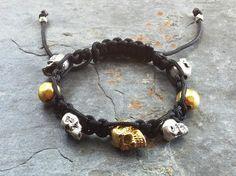 Check out this item in my Etsy shop https://www.etsy.com/listing/240577742/skull-bracelet-skull-jewelry-shambala