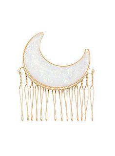 Lunar locks // Blackheart Opal Moon Hair Comb