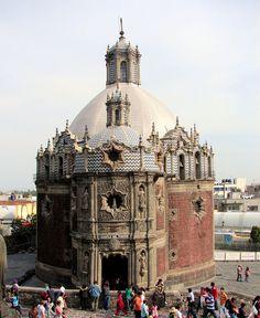 Capilla del Pocito, en la zona Mariana de la Basílica de Guadalupe. Mexico.