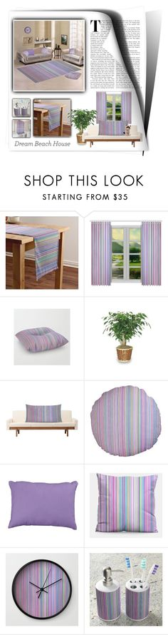 """""""Beach House Stripes"""" by wackyworkshop ❤ liked on Polyvore featuring interior, interiors, interior design, home, home decor, interior decorating and WALL"""