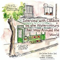 Watercolouring her Way Around the World - Interview with Candace