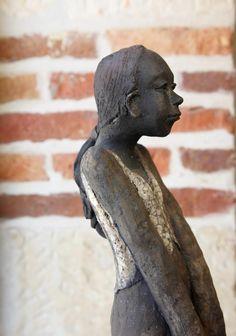 Joelle Gervais Gervais, Joelle, Buddha, Sculptures, Clay, Statue, Sculpture, Spring 2015, Pottery