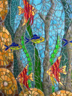 The Water Goddess - mosaic wall art Mosaic Garden Art, Mosaic Tile Art, Mosaic Artwork, Mosaic Glass, Glass Art, Mosaic Mirrors, Marble Mosaic, Sea Glass, Mosaic Art Projects