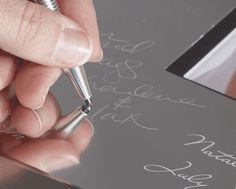 engravable signature photo mats