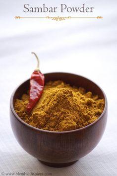 Indian Cuisine: Tamil Sambar Powder Recipe - Homemade Sambar Powde...