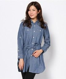 商品詳細 - シャンブレーチュニックシャツ|coen(コーエン)公式通販