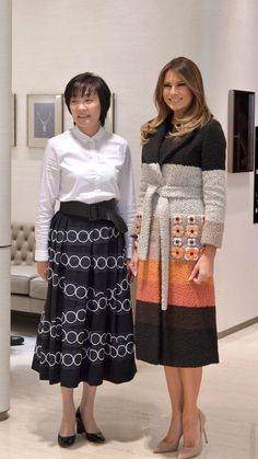 Melania Trump Kicks Off Her Asia Trip in Dior and Fendi