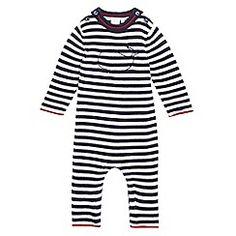 J by Jasper Conran - Baby boys' navy striped all in one