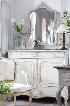 Shabby Chic whites.