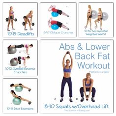 Workout Abs & Lower Back Fat