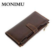 2017 genuine leather wallet men purse long wallets brand money bag quality carteira cuzdan zipper pocket vallet card organizer