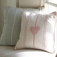 This hand finished Vintage Heart Cushion makes a great Valentine's Day gift