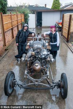 ECCENTRIC British inventor Paul Bacon has gone 'full steam...