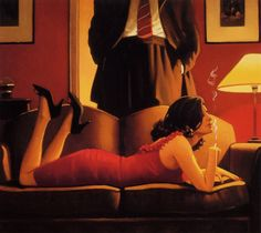 Jack Vettriano - this one is seething with sexuality (some of his don't) mkw