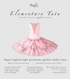 "Our Elementary Tutu gives you the perfect ballerina silhouette while making every movement effortlessly beautiful. This is your tutu if you're looking for a show stopper as your first tutu or for an ensemble performance. This is the ""little sister"" of our other tutu models, offering the same quality and beauty with a more minimalistic way. 100% customized just for you from colors to decorations! Contact: tutustudioborealis@gmail.com Read more: tutustudioborealis.com Instagram… Ballet Tutu, Ballet Skirt, Ballerina Silhouette, Little Sisters, Bodice, Dancer, Just For You, Decorations, Models"